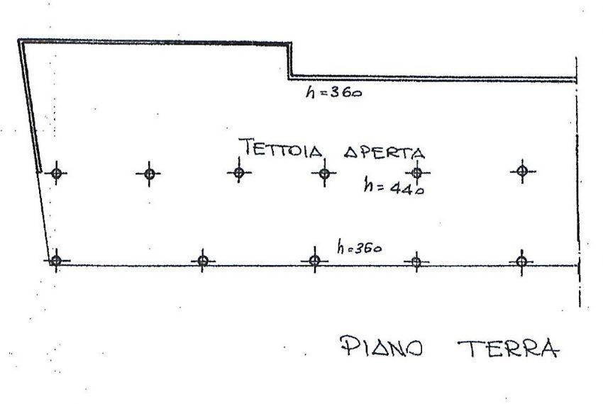 Plan tettoia